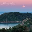 Carte de voeux -  île Millau, cote de granit rose
