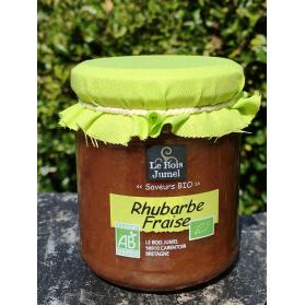 confiture extra bio rhubarbe fraise au miel