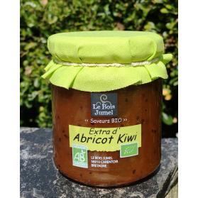 confiture extra bio abricot kiwi au miel