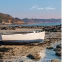 Carte de voeux - plage de  Pors-Mabo, cote de granit rose