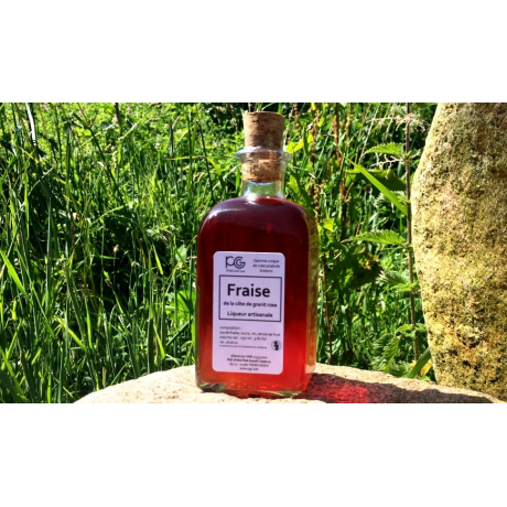 liqueur de fraise artisanale breton