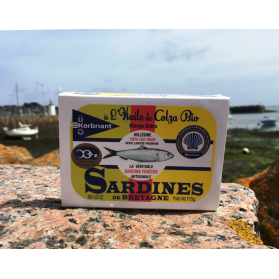 sardine à l'huile de colza bio