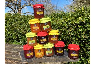 les confitures au miel extra et bio du Bois Jumel référencées sur PGC